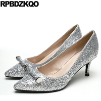 3 Inch Women Sparkling Nude Stiletto Metal 2017 Bride Glitter High Heels Shoes Pumps Size 4 34 Sequin Bling Fashion China