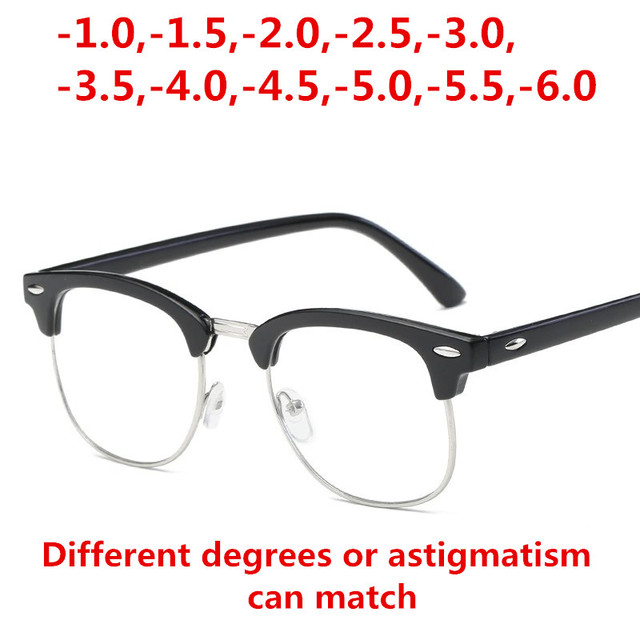 95db37cb20 Finished myopia glasses Men Women reading Eyeglasses myopia frame Lens  prescription optical astigmatism diopters -1 to -6