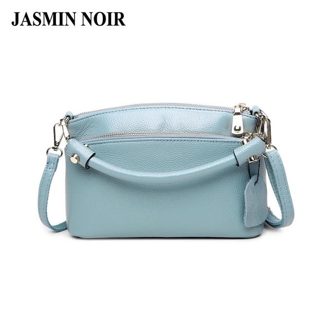 48ae32f42cd Koreaanse Mode Echte Koe Lederen Vrouwen Messenger Bag over Schouder  Handtas Hoge Kwaliteit Kleine Crossbody Tas