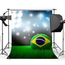 Boisko do piłki nożnej tło stadion Bokeh brokat cekiny błyszczące światła sceniczne zielona trawa łąka fotografia tło