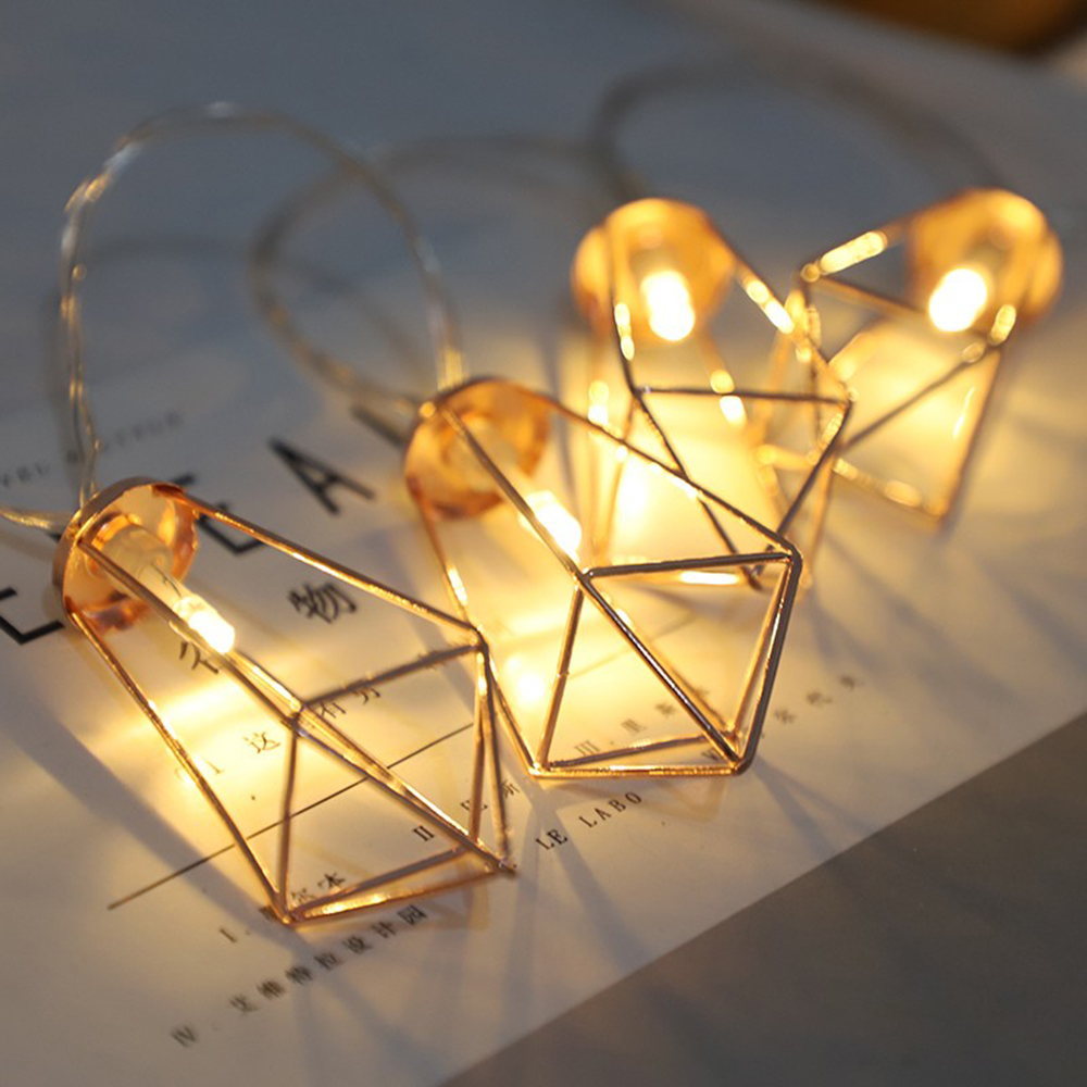 Image 2 - Novelty LED Fairy Lights 20 Metal String Light Battery Operated Party christmas lights for Halloween Party Wedding Decoration-in LED String from Lights & Lighting on