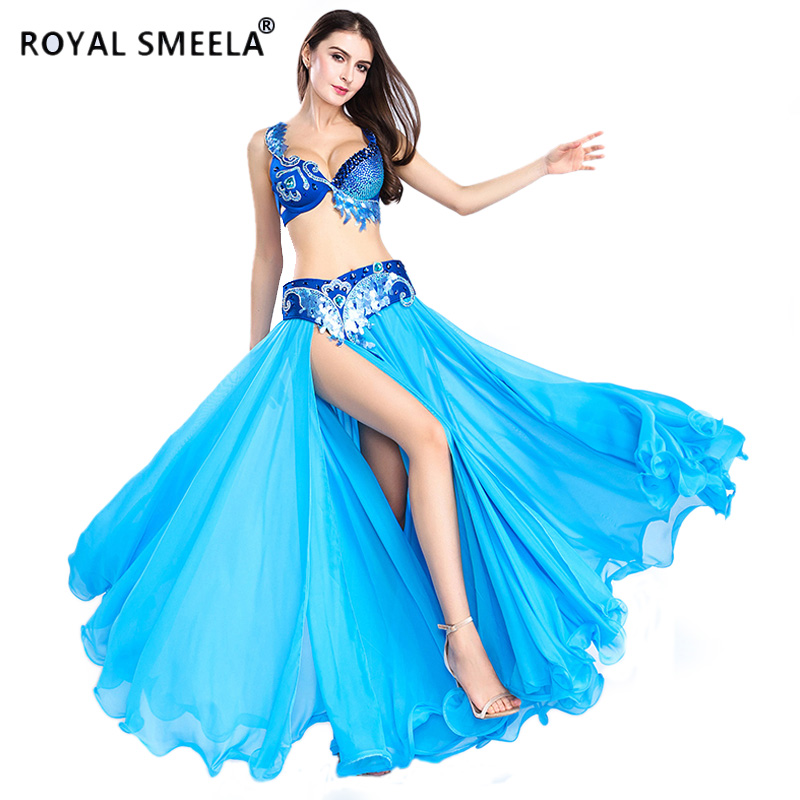 Hot Sale Free Shipping 2019 New design top grade belly dance set belly dance costume wear