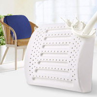 Natural Latex Office Chair Cushion Back Support Massage Pillow Orthopedic Cushion Car Seat Lumbar Pad Pain Relief Waist Pillow