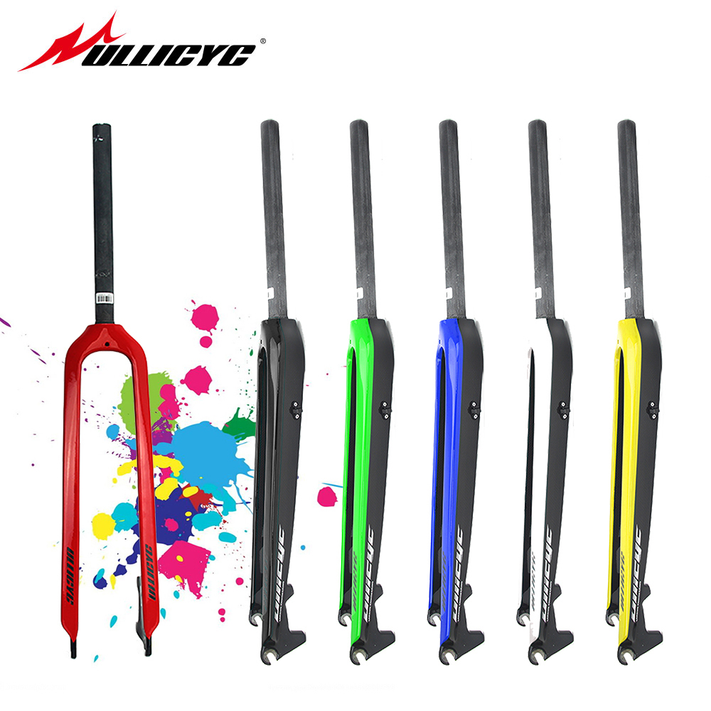 Ullicyc Colorfull Inch Mountain Bike Full Carbon Fibre Bicycle Front Forks Disc Brake MTB 28.6mm 1-1/8