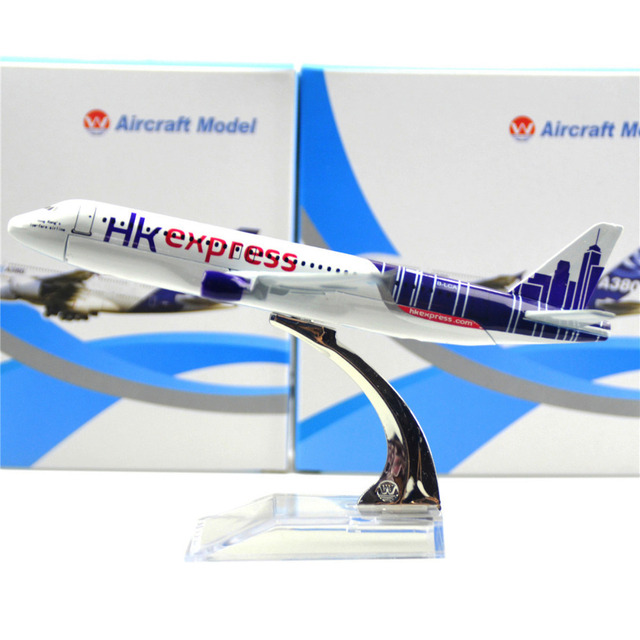Hongkong Express Airbus 320 16cm Airplane Child Birthday Gift Plane Models Toys Christmas