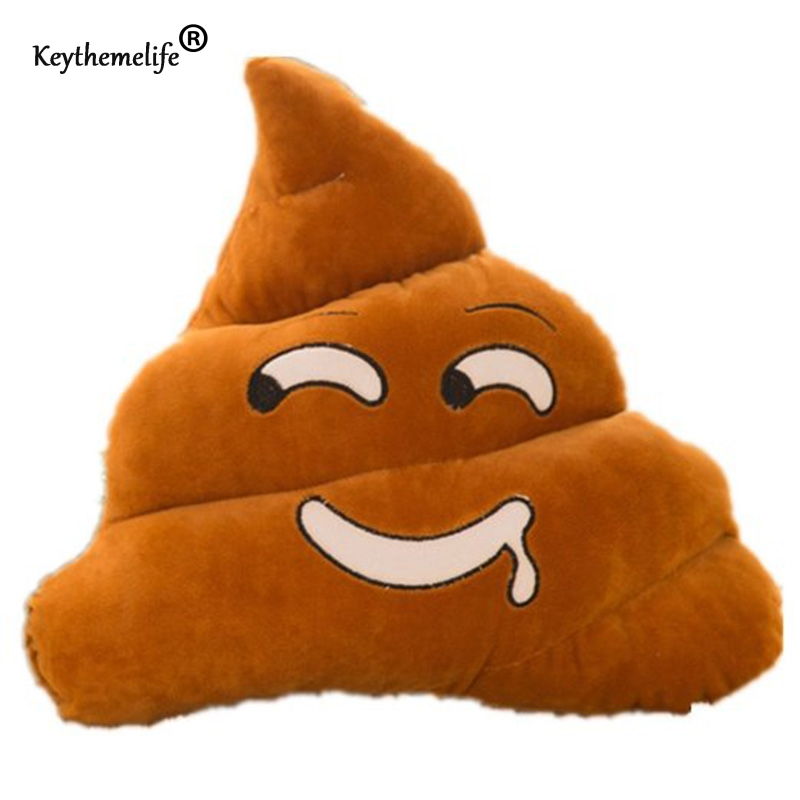 Emoticon Cushion Pillow 6 color poo Polyester Essential Cute Emoji Poo Shape Doll Toy Throw Pillow Home Decorative Sofa CF
