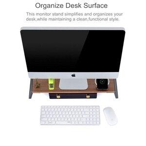 Image 4 - شاشة حامل الناهض مع قدم معدنية لطابعة عرض iMac MacBook LCD ، lapoffice منضدة منظم منصة قوية توفير مساحة
