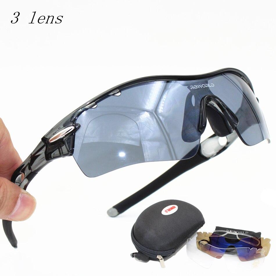 8647c4537a769 TR90 Óculos De Esqui Óculos de Sol Outdoor Sports Bicicleta Óculos De Sol 3  Uv400 Lente Polarizada Miopia Ciclismo