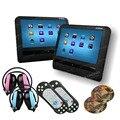 """2 unidades 9 """"HD Pantalla Táctil de Coches Reproductor de DVD Reposacabezas 800x480 Juego/DVD/USB/SD/IR coche reposacabezas monitor + dos Hijos IR Reposacabezas"""