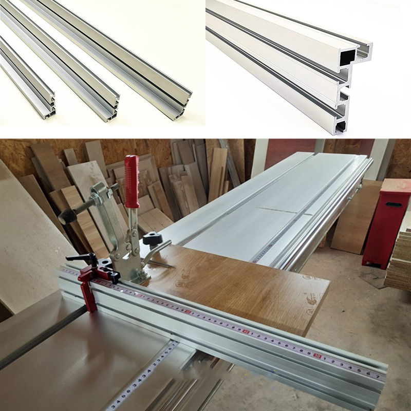 1000mm Aluminium Profile For Fence 75mm Height Woodworking With T-tracks For Wood Working Workbench DIY Tool Not Including Scale