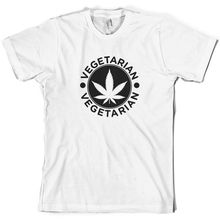 Vegetarian Hash - Mens T-Shirt Drugs FREE UK P&P Sleeve Hot Print T Shirt Short Tops