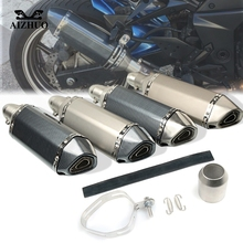 Motorcycle Exhaust pipe Muffler Escape DB-killer 36MM-51MM FOR SUZUKI GSR600 GSR750 GSX-S750 GSXR1000 GSXR1300 SFV650 GLADIUS 36 51mm modified motorcycle exhaust pipe stainless steel fried tube exhaust pipe for suzuki sfv650 gladius b king gsx s1000 f