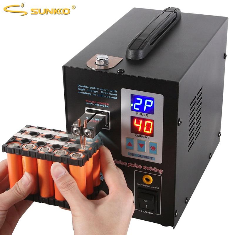 SUNKKO 737G Battery Spot welder 1.5kw LED light Spot Welding Machine for 18650 battery pack welding precision pulse spot welders