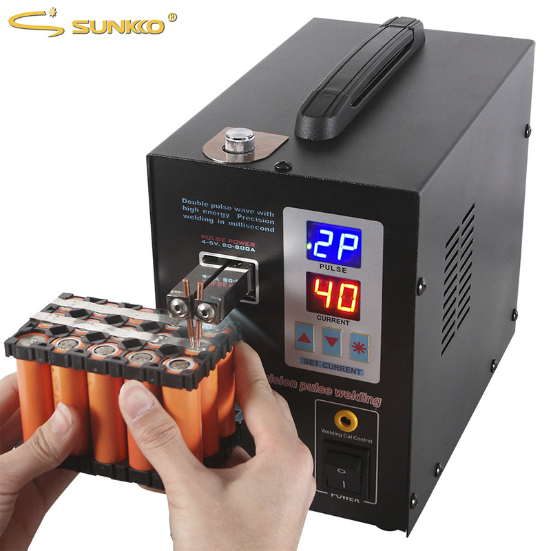 SUNKKO 737G Battery Spot welder 1.5kw LED light Spot Welding Machine for 18650 battery pack welding precision pulse spot welders yako m6001