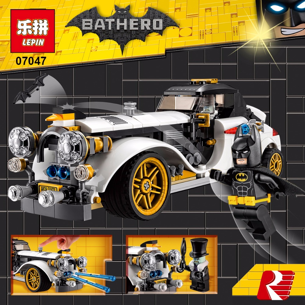 07047 305Pcs Genuine Batman Series The Arctic War Penguin Classic Car Set Building Blocks Bricks Toys compatiable with lego
