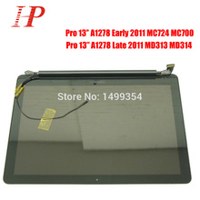 """New Glossy 2011 Year A1278 LCD Screen Assembly For Apple Macbook Pro 13"""" A1278 LCD LED Screen Assembly MC700 724 313 314"""