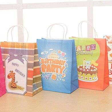 Cartoon Color Birthday Gift Bag Happy Birthday Baby Paper Gift ...