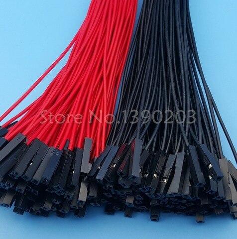 200 pces femea para femea vermelho preto