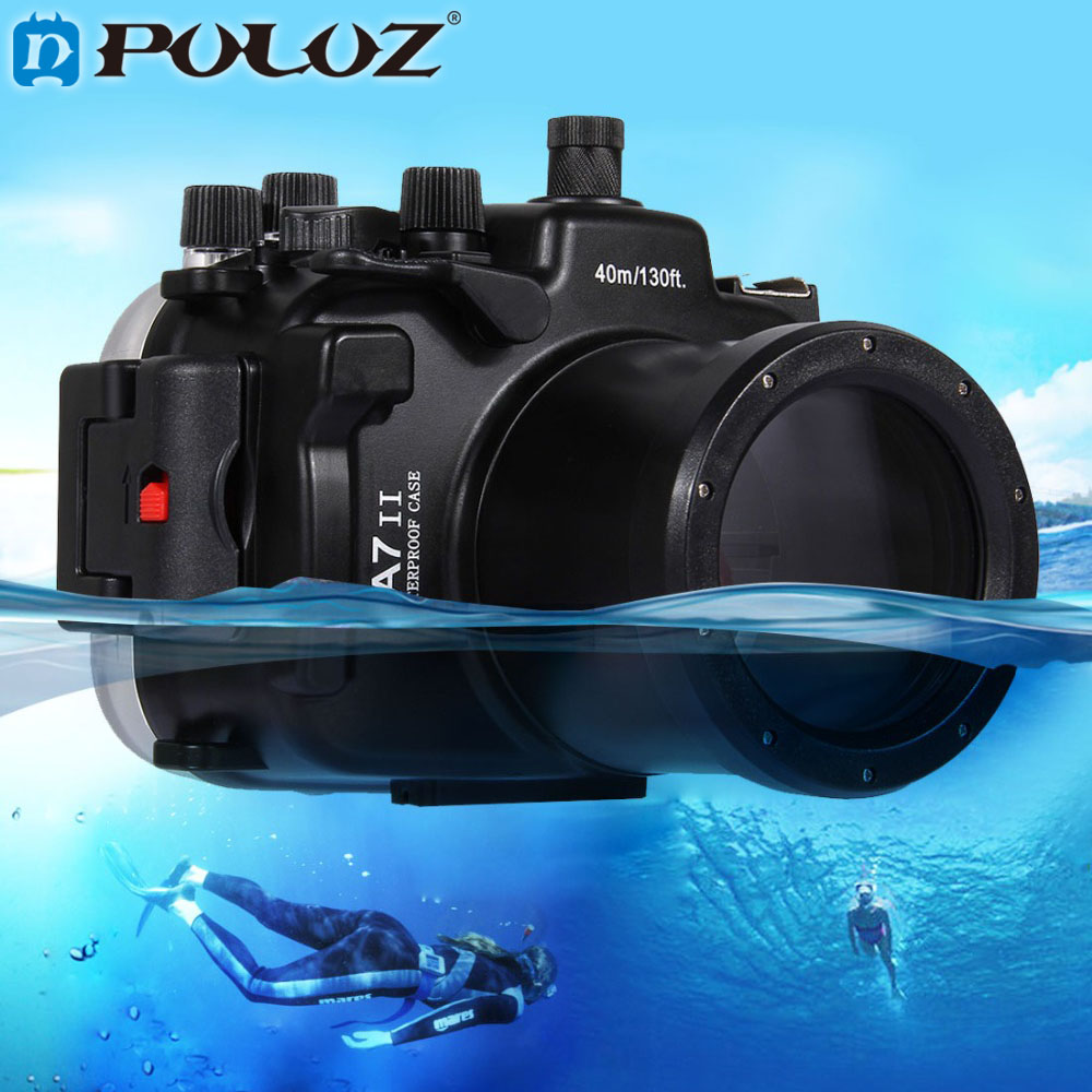 PULUZ 40m 1560inch 130ft Depth Underwater Swimming Diving Case Waterproof Camera Housing case for for Sony A7 II A7R II puluz for panasonic lumix dmc lx100 case waterproof underwater 130ft depth diving waterproof camera housing for lumix dmc lx100