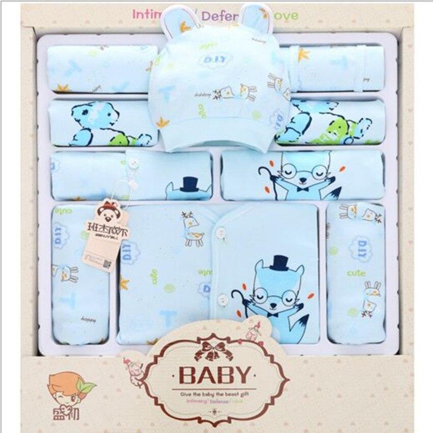 13 Piece 100% Cotton Newborn Baby Girl Clothes Set Spring and Summer Clothes Suit Newborn Baby Underwear Baby Boy