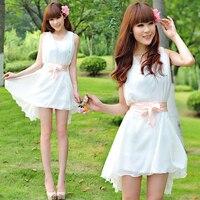 Chiffon Dress 2015 Fashion Printed Chiffon Dress Korean Style Black Floral Chiffon Dresses Vintage Chiffon Dresses