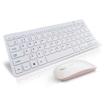 White Ultra Slim Thin Design 2.4GHz Wireless Keyboard With Mouse Mice Kit for Desktop Laptop PC Computer Keyboard Set