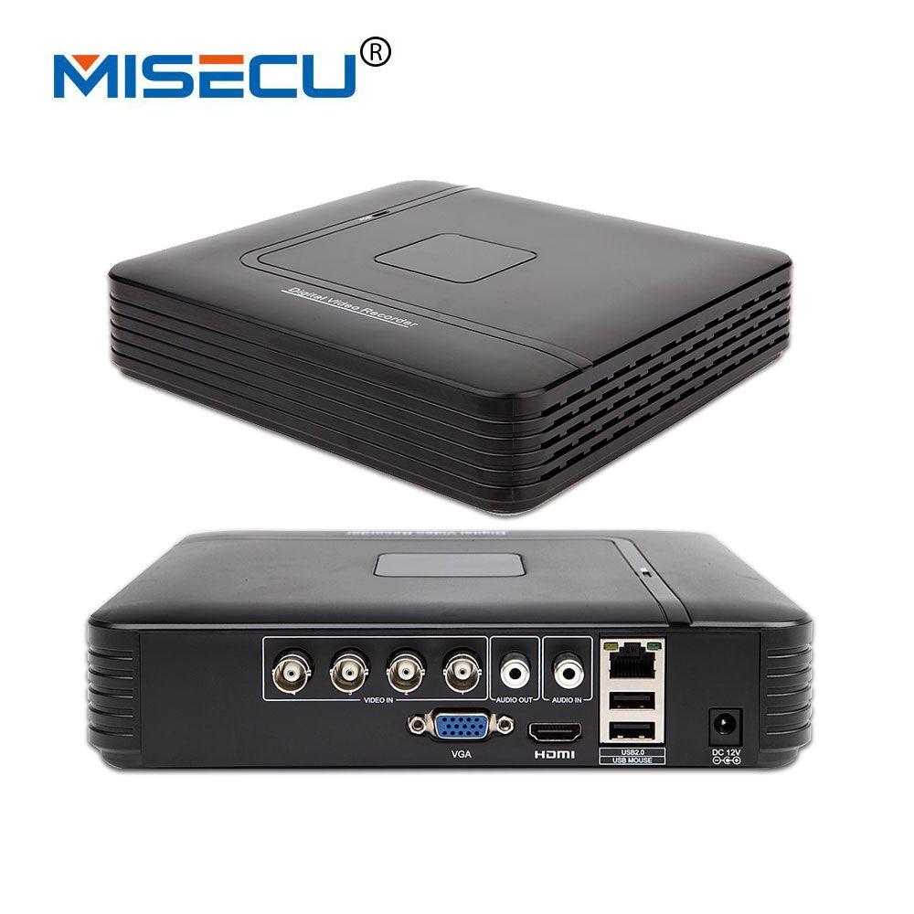 Misecu 4 канала AHD DVR AHD-M 720 P видеонаблюдения CCTV Регистраторы 4CH мини Гибридный HDMI Поддержка IP аналоговый AHD Камера P2P