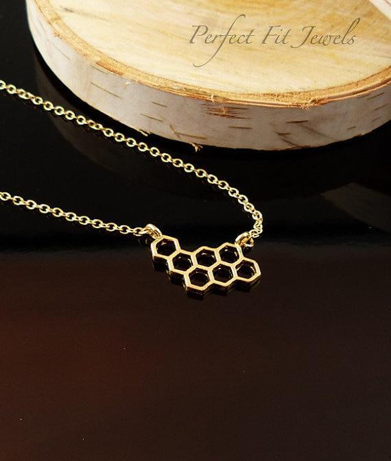 Honeycomb Pendant Necklace