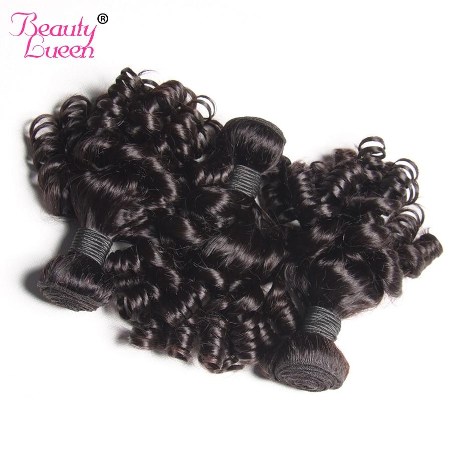 Brazilian Bouncy Curly Human Hair Weave Bundles 3 Bundles Non Remy Hair Extensions Natural Black Double