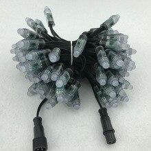 100 шт./компл. bullet typeDC12V адресуемый 12 мм WS2811 RGB led Smart Pixel node; все черные 18AWG) провод, IP68; с 2 м Xplug pigtail