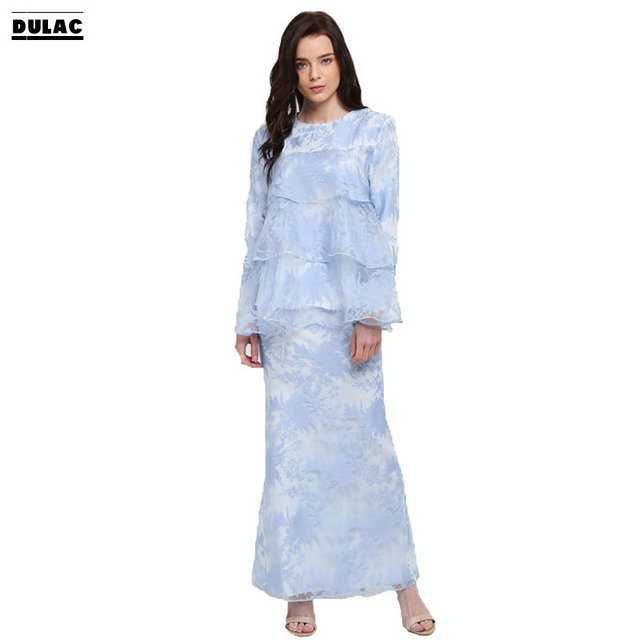c74b2bd66 Advanced Customization Wholesale Middle EastFashion Design Muslim Maxi  Dress Malaysia Long Sleeves Clothing Printed Baju Kurung