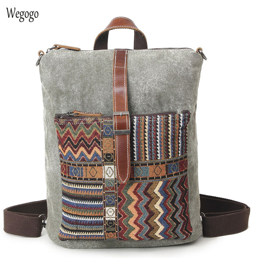 2019 New Ethnic Canvas Backpack For Women National Backpacks Leisure Travel Rucksack Embroidery Back Bag Student School Bag2019 New Ethnic Canvas Backpack For Women National Backpacks Leisure Travel Rucksack Embroidery Back Bag Student School Bag
