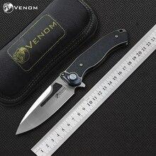 VENOM couteau pliant en titane M390, fc, couteaux à rabat, camping en plein air, chasse, poches de survie, couteaux de cuisine à fruits, EDC outils