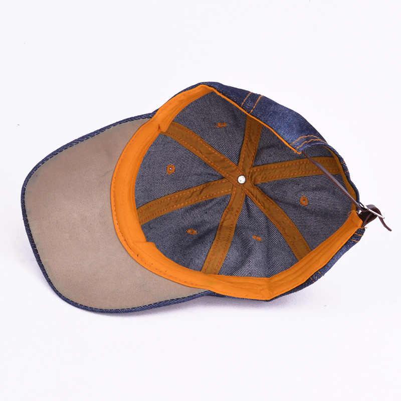 ... 2019 Kids Denim Baseball Cap Pure Color Snapback Hats Jean Boys Girls  Sun Hats Summer Caps ... 106d3410ec30