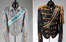 S-5XL!New 2016 Michael Jackson concert dance stage costume uniforms moonwalk stage costumes