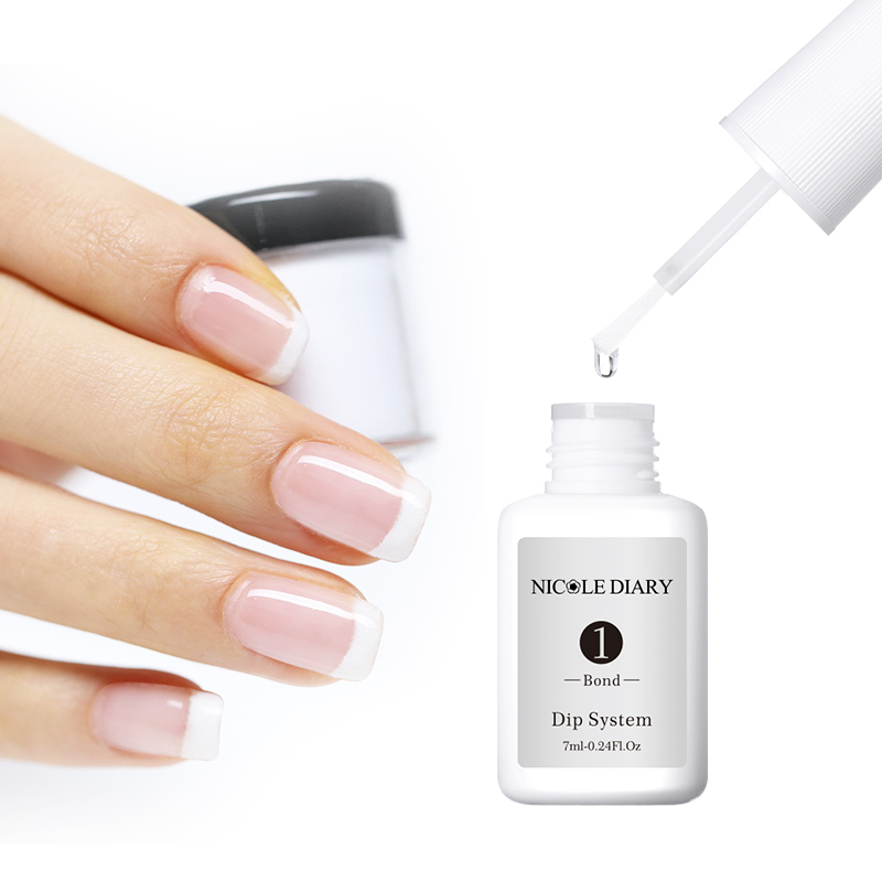 Image 4 - 4Pcs/Set Dipping System Nail Kit Dipping Nail Powder With Base Activator Liquid Gel Nail Color Natural Dry Without Lamp Nail-in Nail Glitter from Beauty & Health