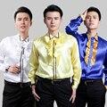 39-44 tamaño de los nuevos hombres del vestido de boda del novio camisa coro Rendimiento camisa de color vestido de Novia ropa de la cantante