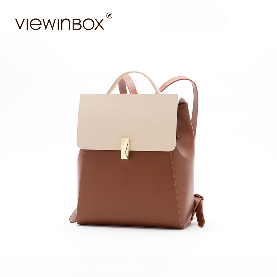 Viewinbox Backpack Fashion Split Leather Backpack Women School Bags For Teenagers for Teenager Girl Multifunction Backpacks viewinbox fashion backpacks for teenage girls women s split leather backpack school bag casual large capacity travel backpack
