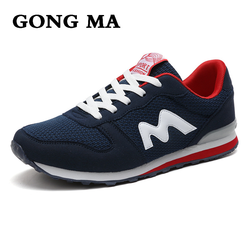 ФОТО GONG MA spring/ Autumn period for boys walking shoes Lycra fabric men's casual shoes flat round toe climbing Nubuc mens shoes