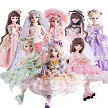 BJD кукла 1/3 карие глаза с BJD одежда парики обувь макияж 100% ручной работы красота игрушки силиконовые Reborn кукла игрушка для детей