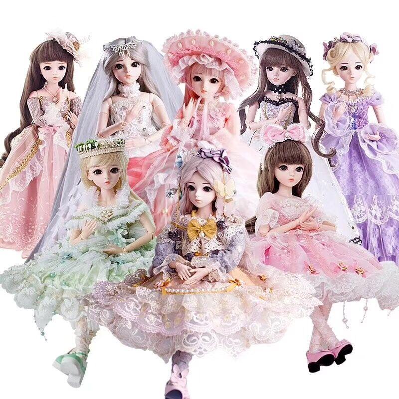 BJD poupée 1/3 yeux bruns avec BJD vêtements perruques chaussures maquillage 100% jouets de beauté faits à la main Silicone Reborn poupée jouet pour enfants