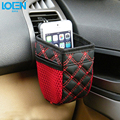 Car Air Vent Mobile Phone Mesh Holder Pocket Debris Storage Organizer Pouch Bag Grocery Card Pouch Glove Black Red free shipping