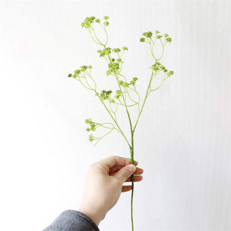 Diy aliento gypsophila flor artificial planta de silicona falsos para la boda home hotel fiesta decoraciones 3 colores