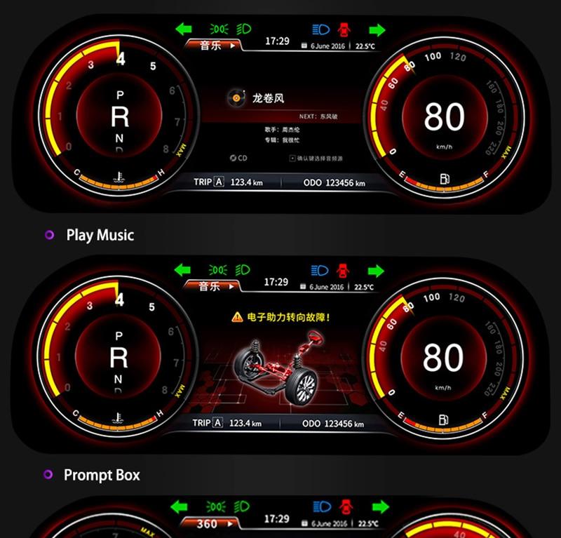 LiisLee Instrument Panel Replacement Dashboard Entertainment Intelligent System for Toyota Highlander Kluger XU50 2013~2019 (6)