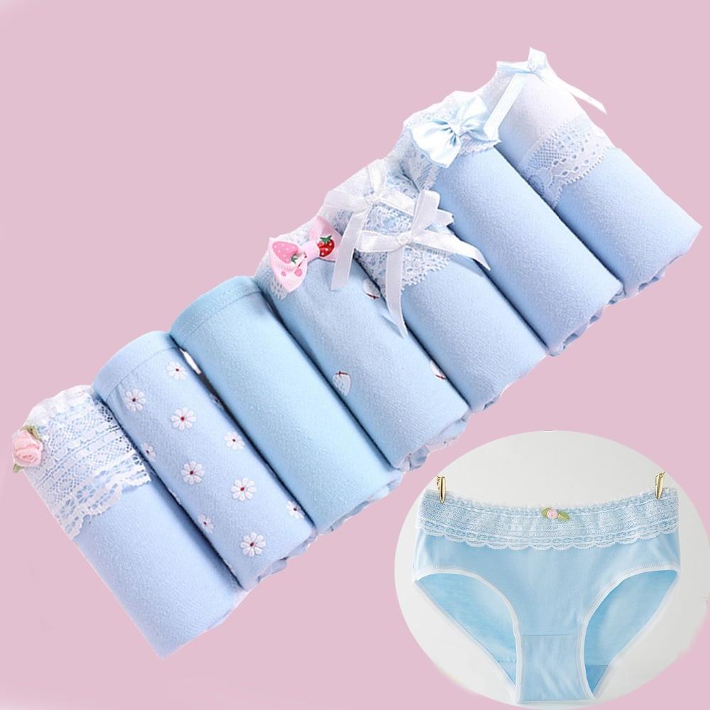 7Pcs/lot   Panties   Underwear Women Cotton   Panties   Women Briefs Lingeries Cueca Calcinhas Shorts Lace Underpants Girls   Panty   Ladies