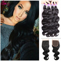 Peruvian Hair With Closure Body Wave Unprocessed Human Hair 10a Virgin Hair With Closure Queen Hair Products With Closure Bundle