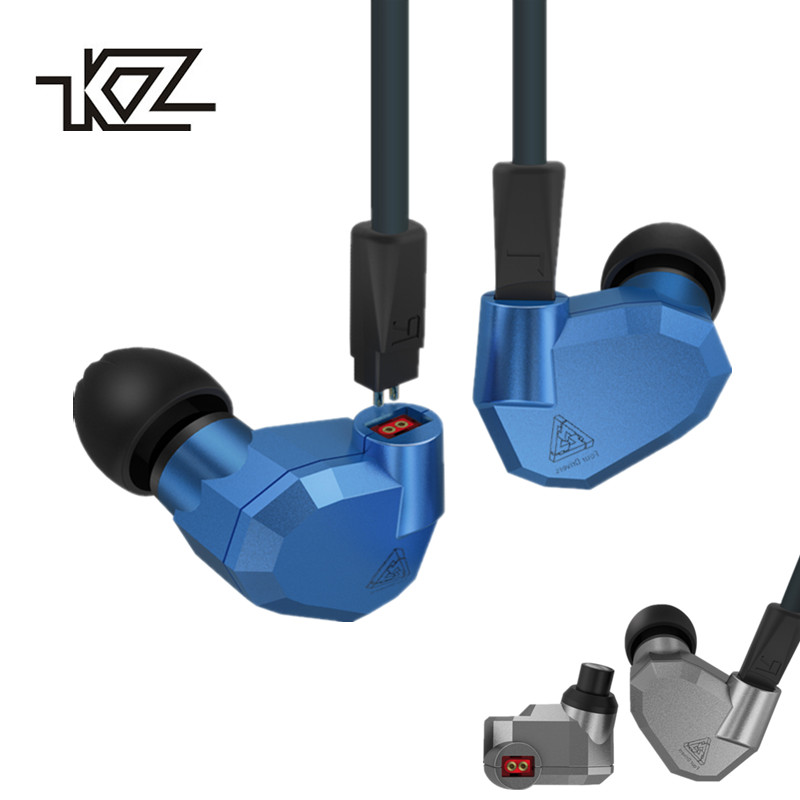 Original KZ ZS5 2DD+2BA Hybrid In Ear Earphone HIFI DJ Monito Running Sport KZ ZST KZ ZS6 Earphones Headset Earbud Two Colors kz zs6 2dd 2ba hybrid driver in ear earphone earbud zs5 upgraded iem hifi noise isolating stereo headset with microphone