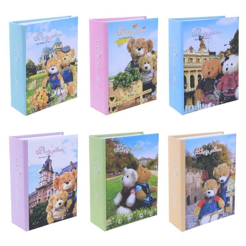 1pcs New Cartoon Bear Cover Photo Album Book 100 Pages 6 Inch Paper Interleaf Type Photo Image Album Scrapbook