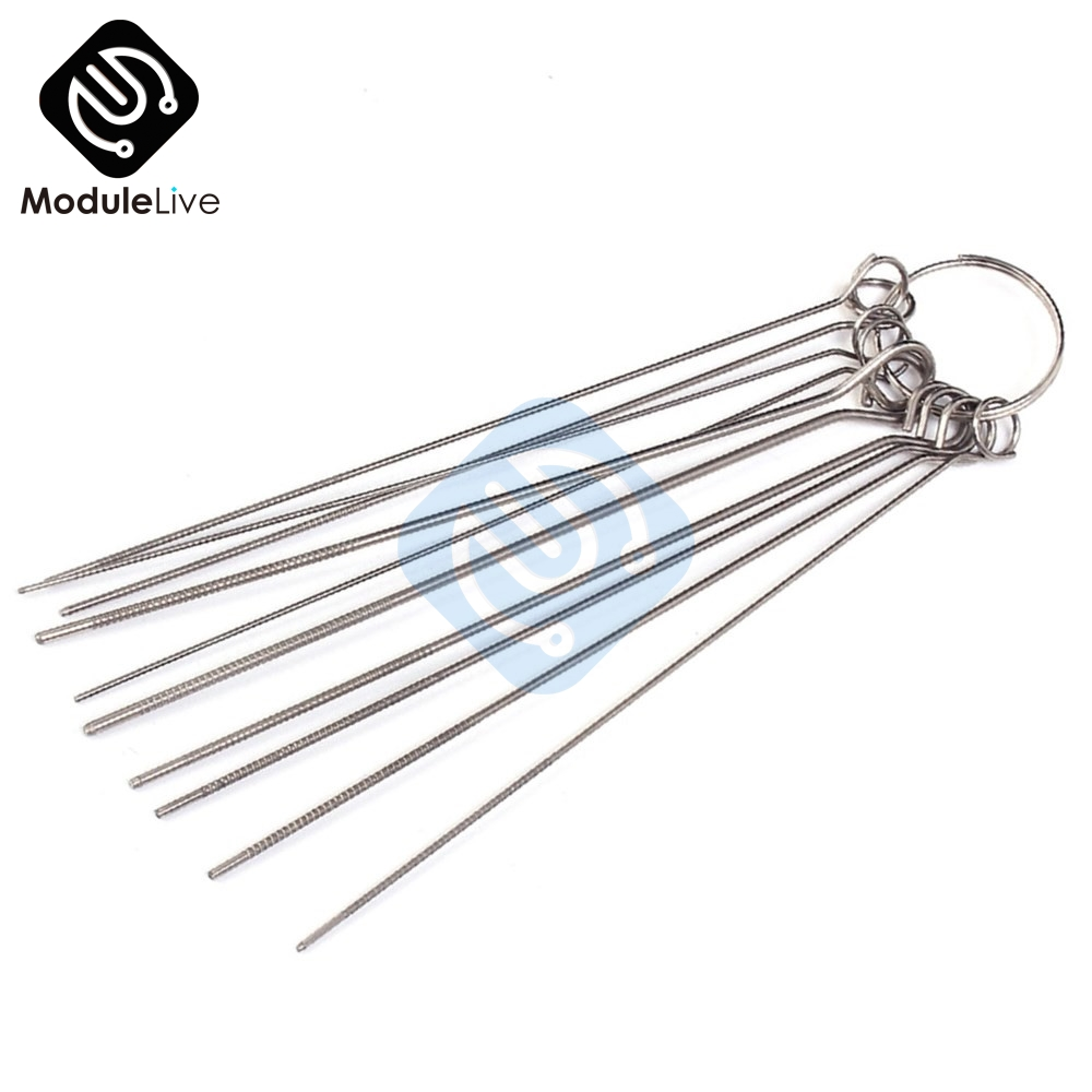 10 Kinds Stainless Steel Needle Set Stable PCB Circuit Through Hole Repair Tool