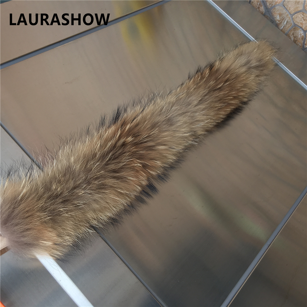 LAURASHOW 70cm Real Raccoon Fur Mink Natural Color Scarf Female - Apparel Accessories - Photo 5